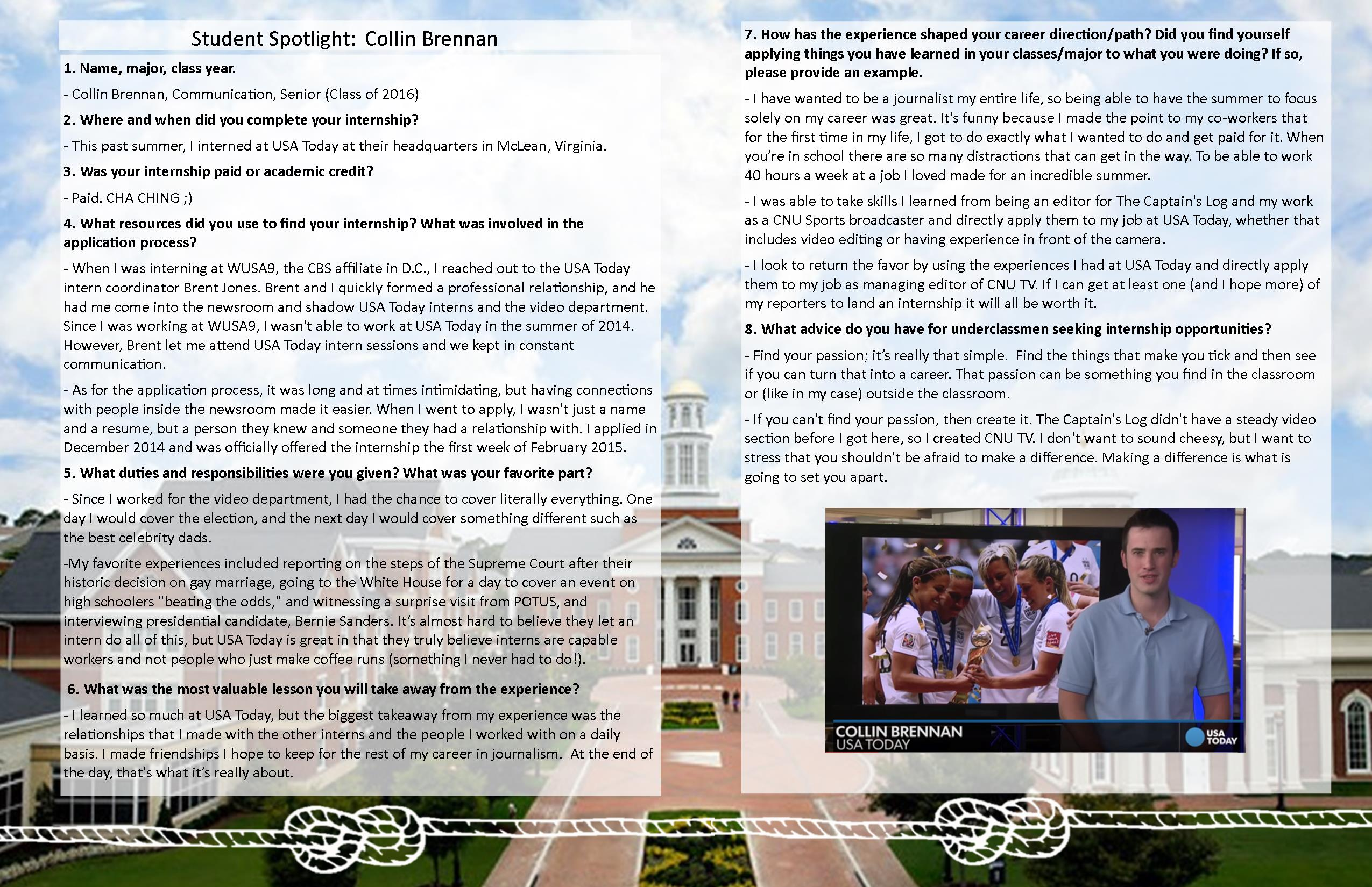 NEW-Student Spotlight Template - Collin Brennan